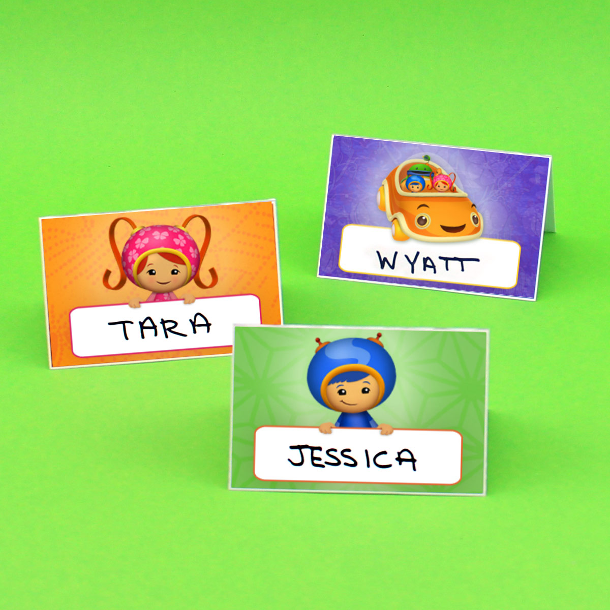 Team Umizoomi Birthday Party Place Cards