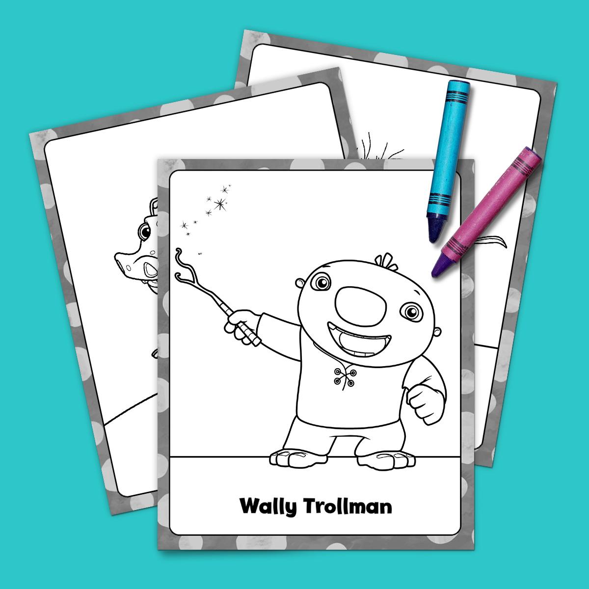 Wallykazam Coloring Pack