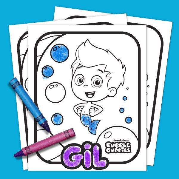 bubble guppies coloring page # 10