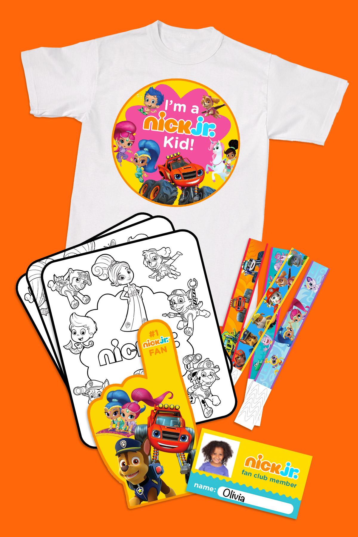 Print Your Nick Jr Fan Club Membership Kit