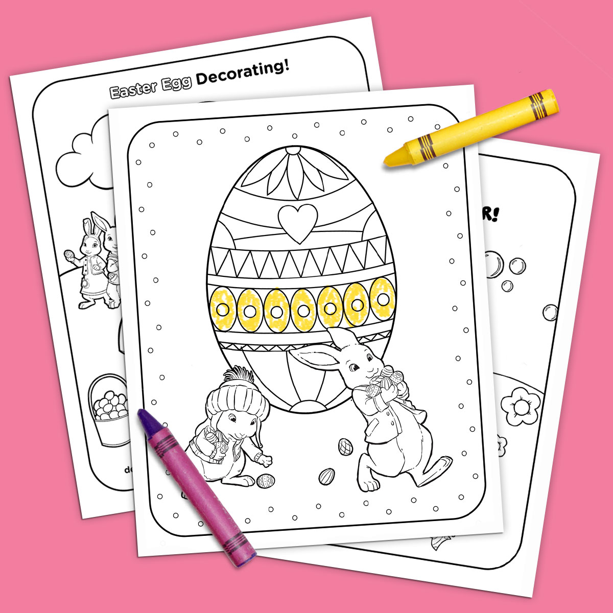 Nick Jr Printable Easter Coloring Pack