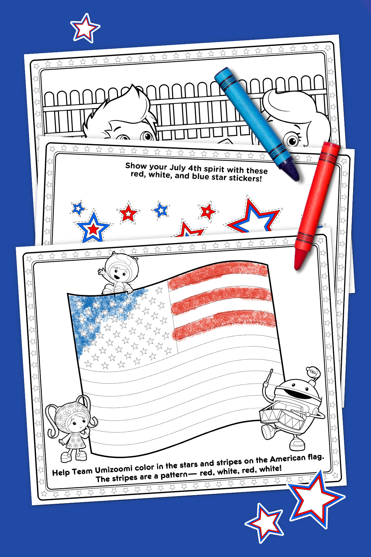 Nick Jr Independence Day Activity Pack