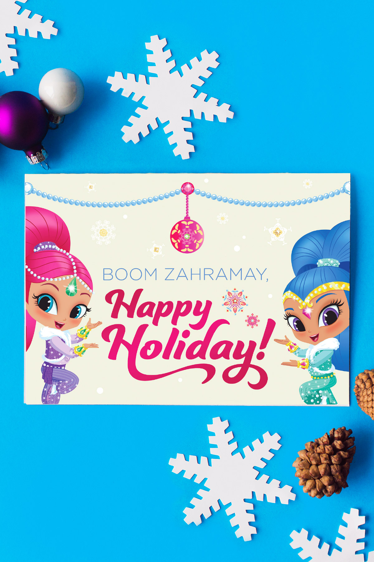 Shimmer Amp Shine Holiday Card Nickelodeon Parents