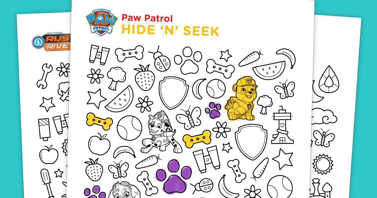 Hide N Seek Printable Nickelodeon Parents
