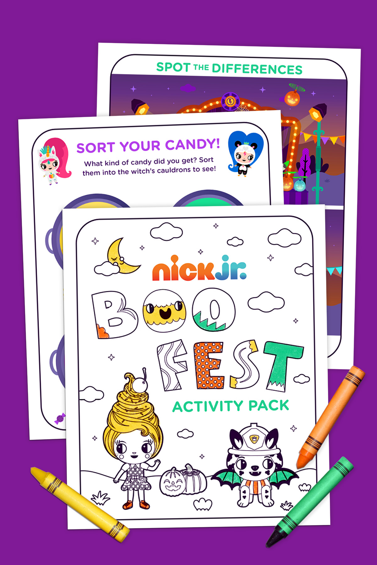 Nick Jr Boo Fest Activity Pack