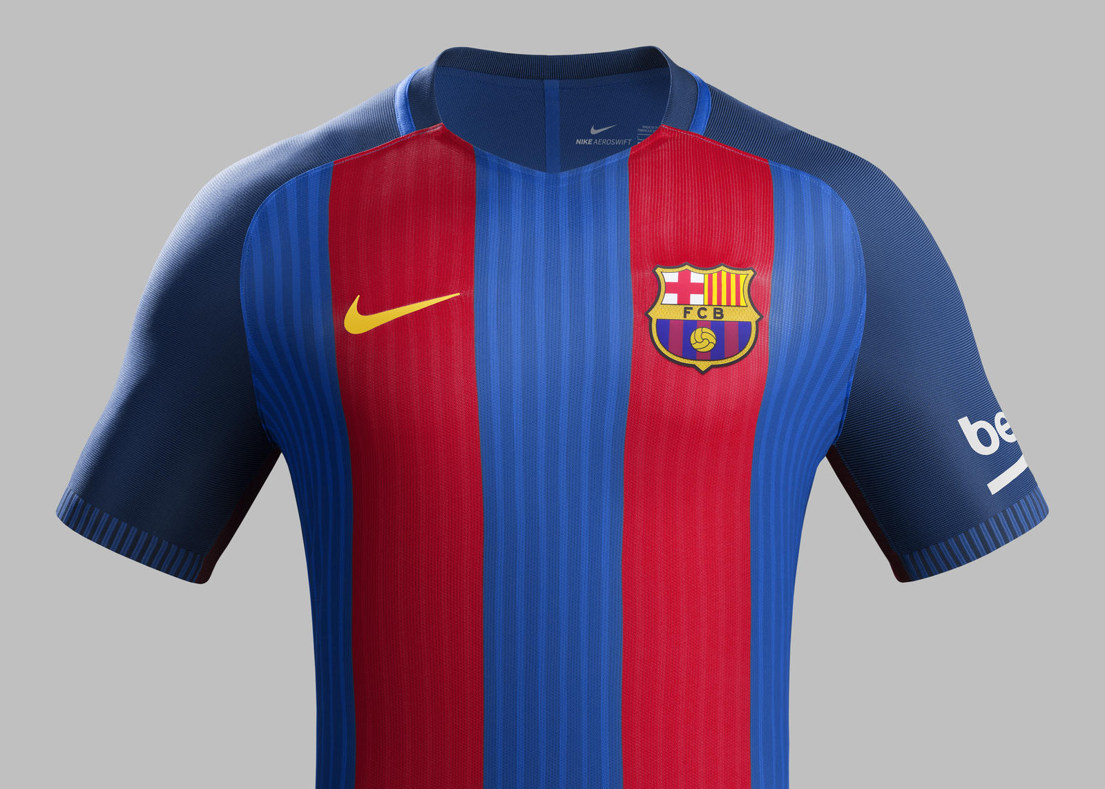 FC Barcelona Home Kit 2016 17   Nike News Su16 ck comms h front match fcb r rectangle 1600