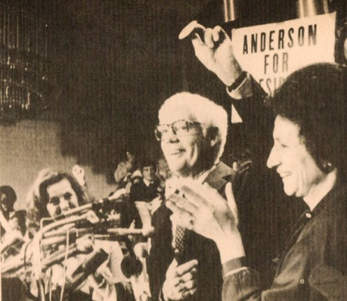 Presidential Candidate John Anderson - putting on the bravest of faces.