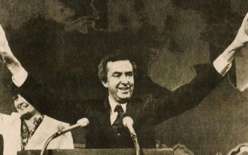 Newly elected Prime Minister Joe Clark of Canada - Victory, but short-lived.