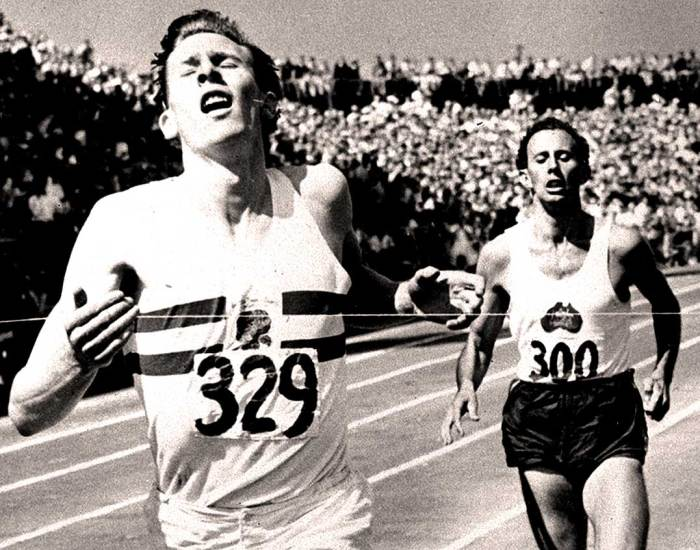 Roger Bannister - John Landy - The two fastest runners in the world in 1954.