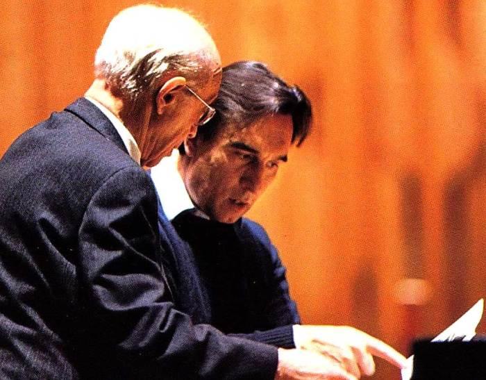 Rudolf Serkin with Claudio Abbado - kicking a few notes around.