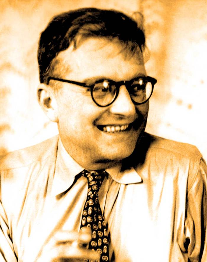 Although he was part of a larger group of visiting composers, everybody wanted to know about Dimitri Shostakovich.