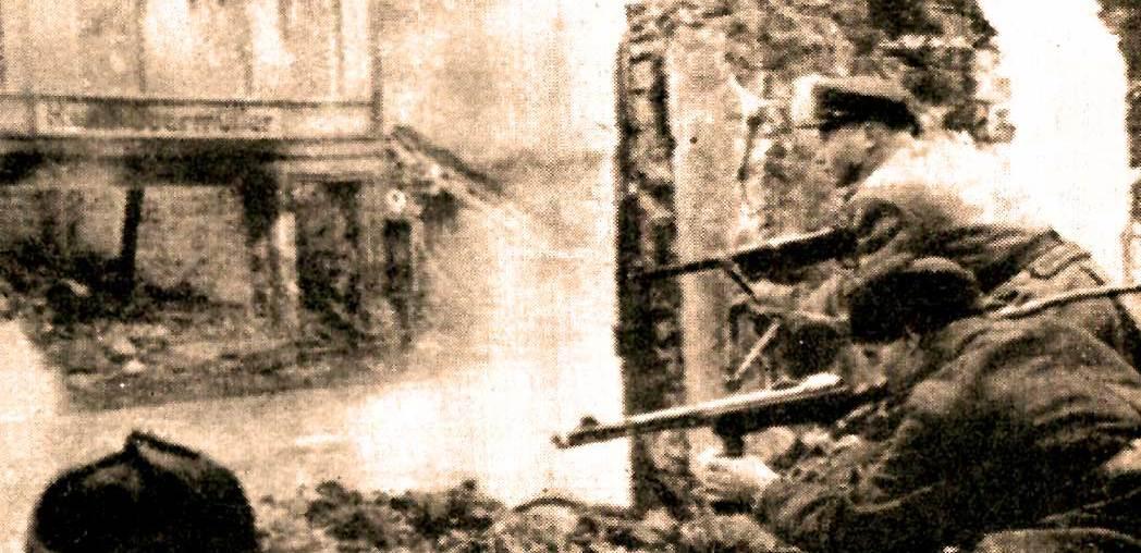 Russian Troops advancing to Berlin