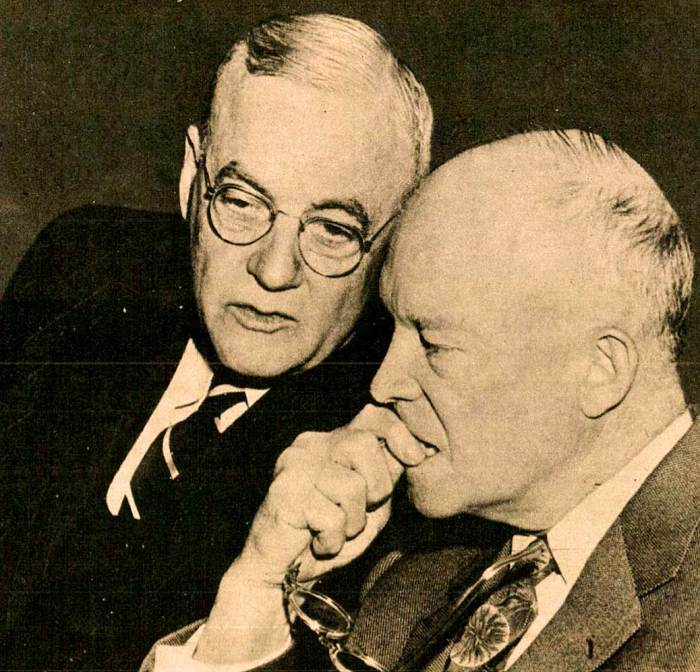 John Foster Dulles and President Eisenhower - still feeling the repercussions today.