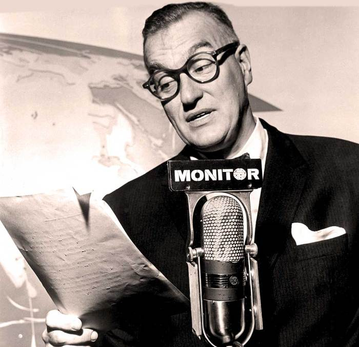 "Dave Garroway - radio host. The credo was ""Monitor: Going places - doing things""."