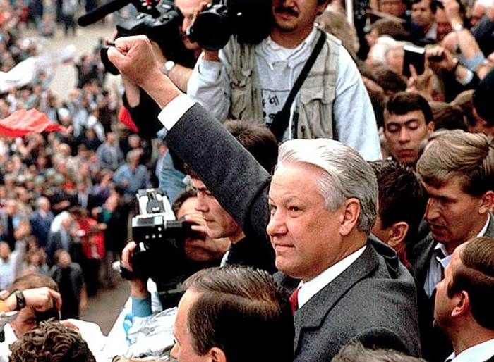 Boris Yeltsin - the loose cannon turned things around.