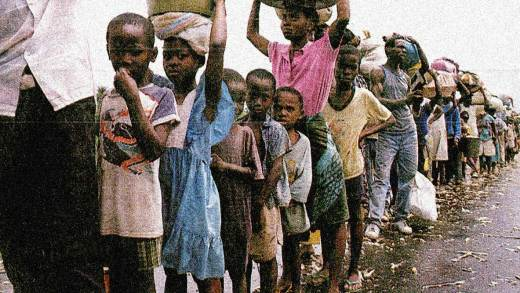 Refugees fleeing Liberian overthrow