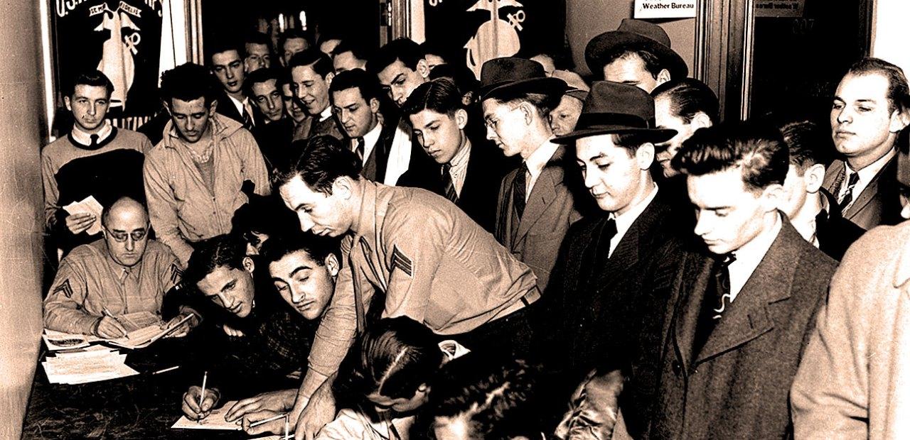 December 8, 1941 - Recruiting office