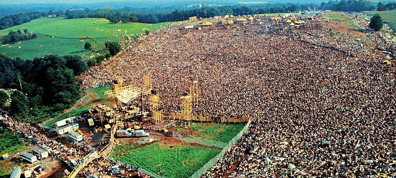 Woodstock - aerial view - August 1969
