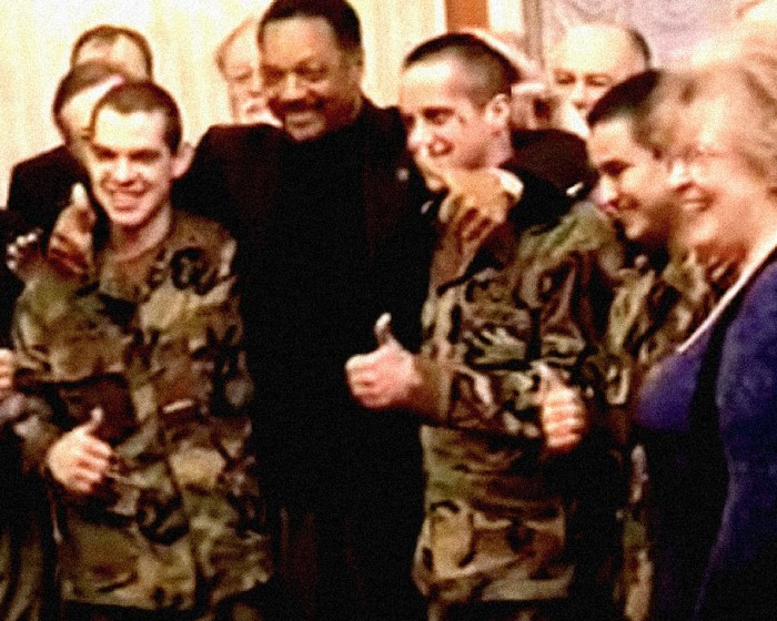 Jesse Jackson and freed US Servicemen