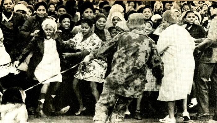 Demonstrations turned violent in Soweto