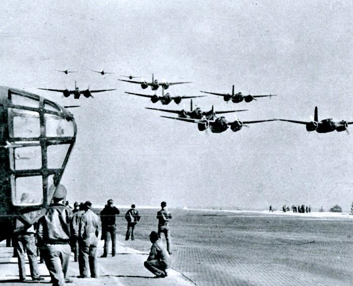 American Bombers enroute to Batavia - January 1942