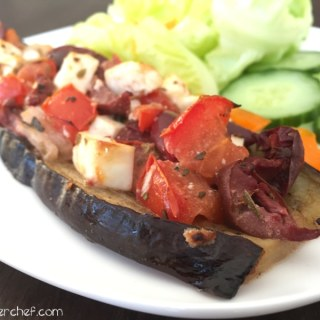 "Eggplant Crust Mediterranean Style ""Pizza"""