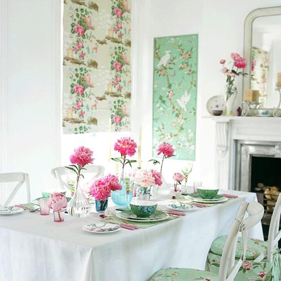 Oriental-style dining room by housetohome via oreeko.com