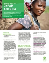 Fact sheets   Oxfam America Learn more about Oxfam s work to right the wrong of poverty and your  crucial role in helping people living in poverty to change their lives  Fact  sheet