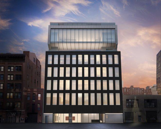 Projeção do novo edifício no Chelsea