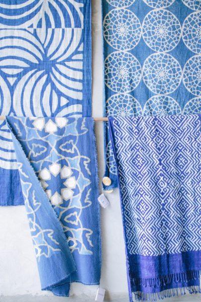 Indigo-dyed fabrics in Bali