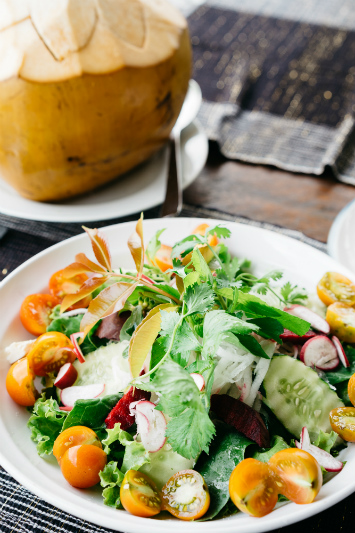 A fresh green salad in Bali.