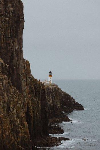 Neist Point lightouse on the Isle of Skye in Scotland.