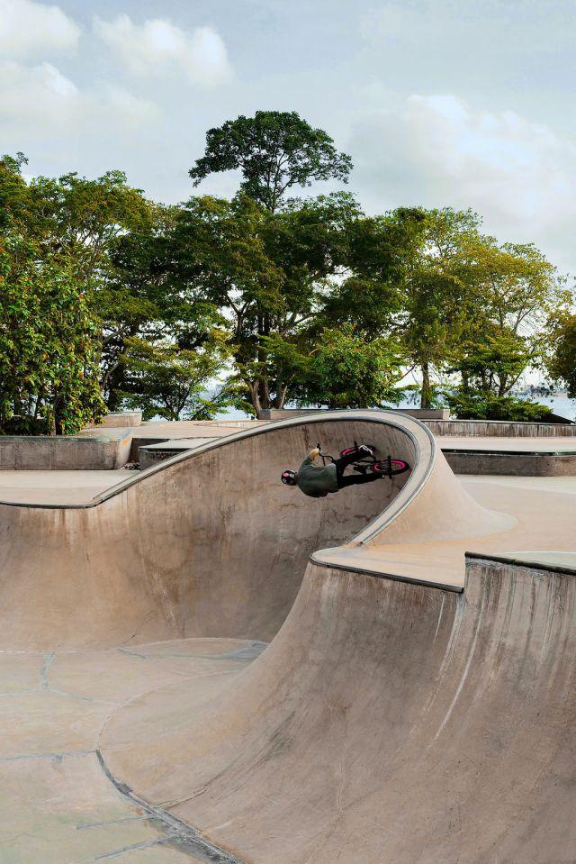 A skate bowl in Singapore's Katong/Joo Chiat neighborhood