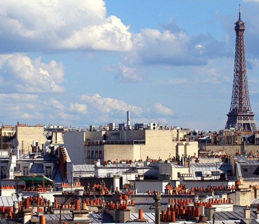 The skyline in Paris, where some people experience Paris Syndrome.