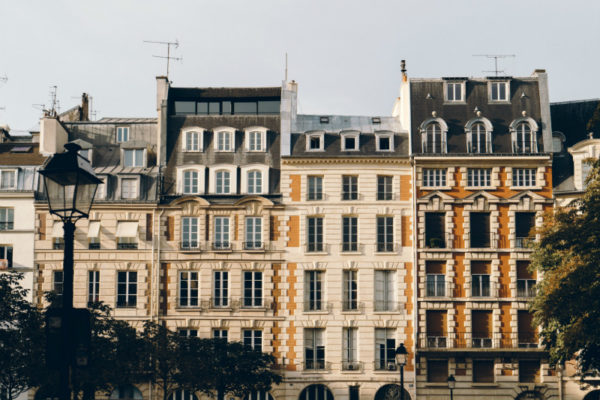 A series of buildings in Paris, where some people experience Paris Syndrome.