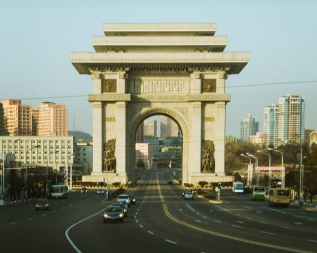 The Arch of Triumph in Pyongyang, North Korea