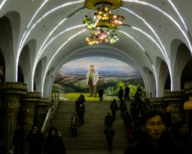 A subway station in North Korea