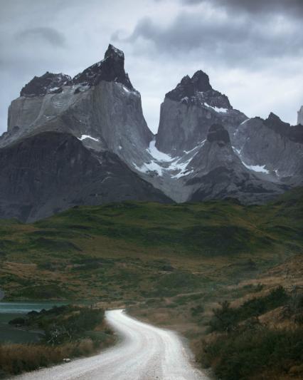 A stormy morning near Los Cuernos, Patagonia