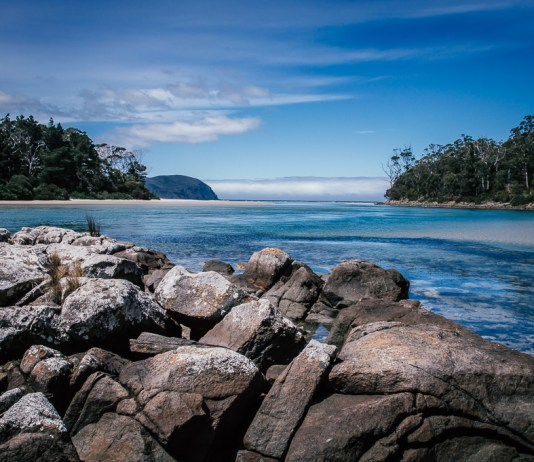 A lagoon on Bruny Island, photo by Tamara Thurman