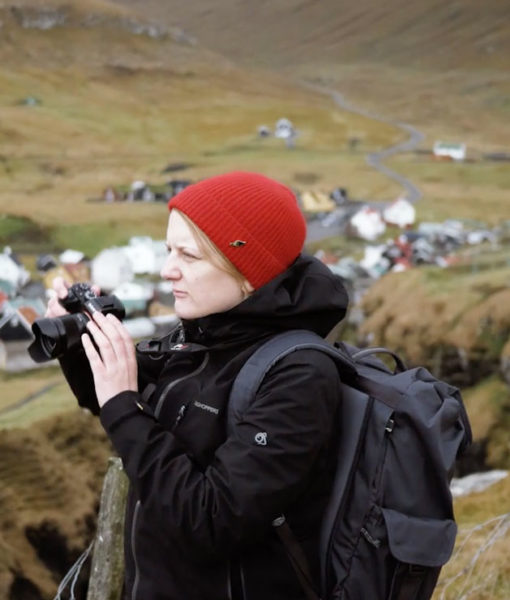 Filmmaker Hollie Harmsworth in the Faroe Islands