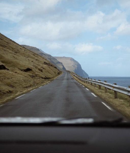 A road on the Faroe Islands