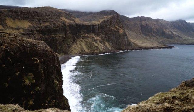 Cliffs on the coast of the Faroe Islands