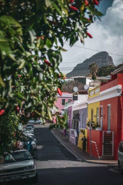 Colorful buildings in the Bo Kaap, South Africa
