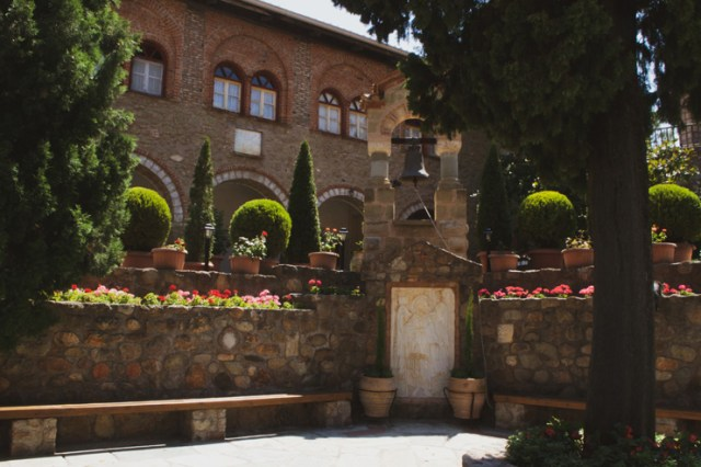Courtyard of a Meteora Monastery.