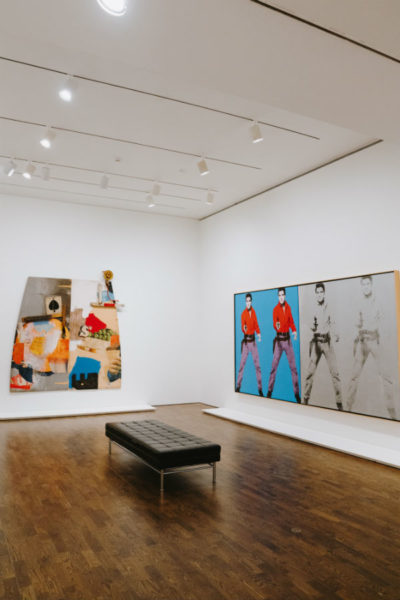 Artworks on display in a Toronto museum