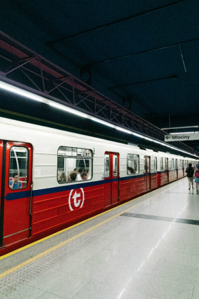 Warsaw metro train