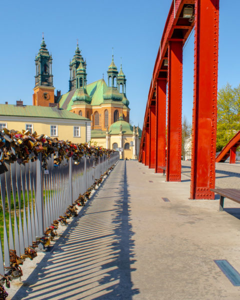 the bridge at poznan gate in poland