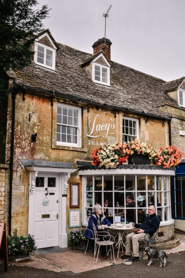 a tearoom in a british village