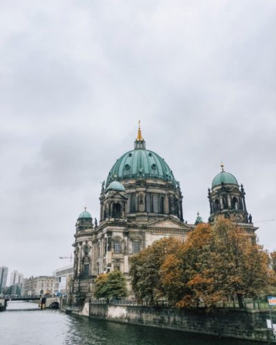 A view of Berlin Cathedral from a bridge