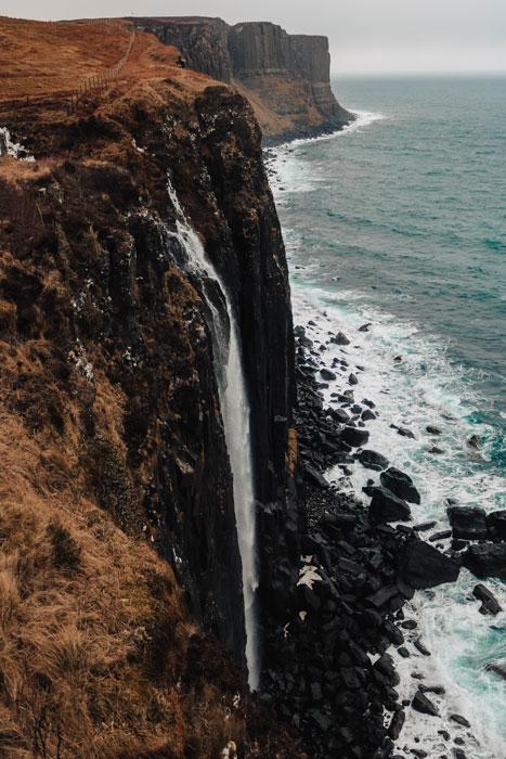 A waterfall on Isle of Skye, Scotland